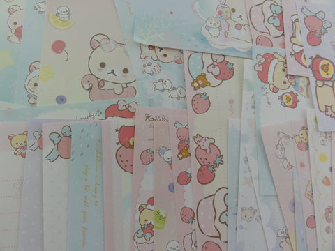 z San-X Korilakkuma Rilakkuma Bear Memo Note Paper Set - for Writing Stationery Scrapbook Art Craft Penpal