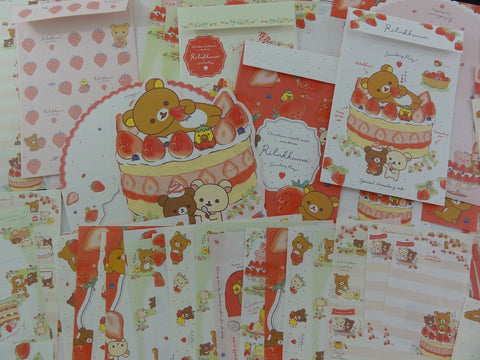San-X Rilakkuma Bear Strawberry Stationery Set