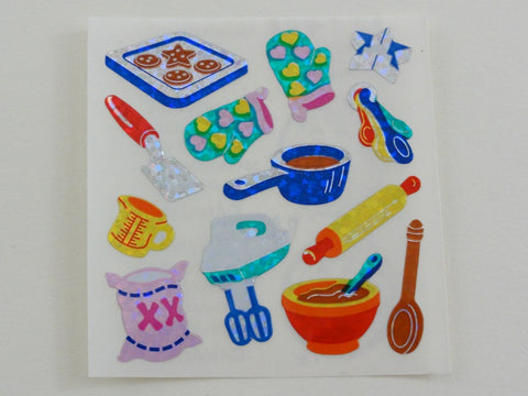 Sandylion Baking Bake Kitchen Glitter Sticker Sheet / Module - Vintage & Collectible