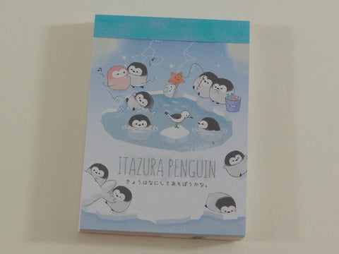 Cute Kawaii Crux Polar Itazura Penguin Mini Notepad / Memo Pad - Stationery Designer Paper Collection
