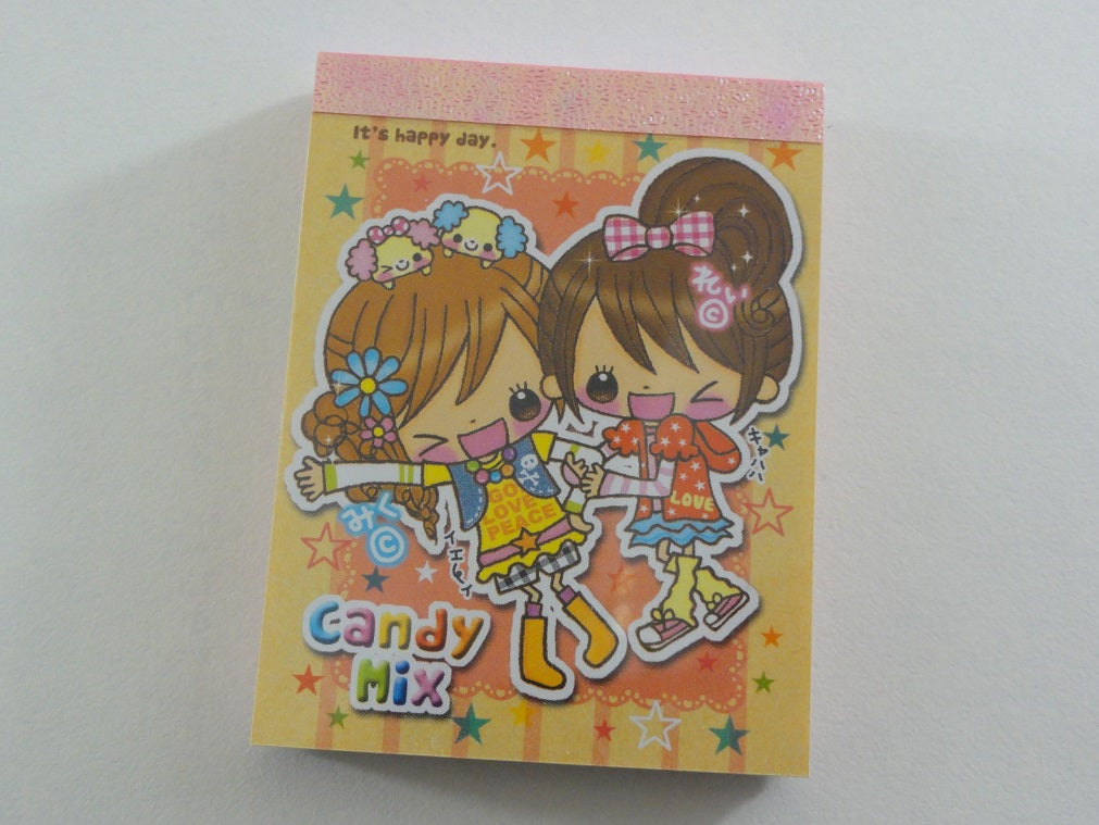 z Cute Kawaii Q-Lia Candy Mix Girls Mini Notepad / Memo Pad - Vintage Rare Collectible - Stationery Design Writing