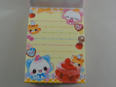 z Cute Kawaii Crux Strawberry Cat Mini Notepad / Memo Pad - Vintage Rare Collectible - Stationery Design Writing