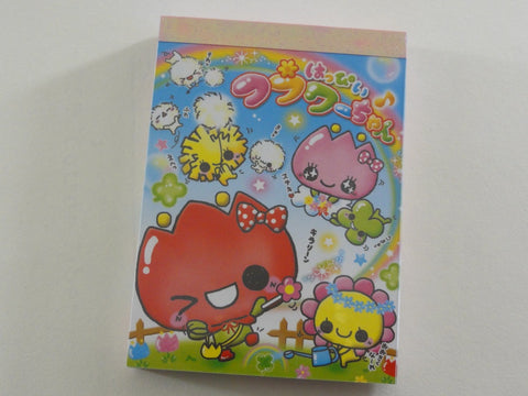 Cute Kawaii Kamio Tulip Clover Mini Notepad / Memo Pad - Vintage Rare Collectible - Stationery Design Writing