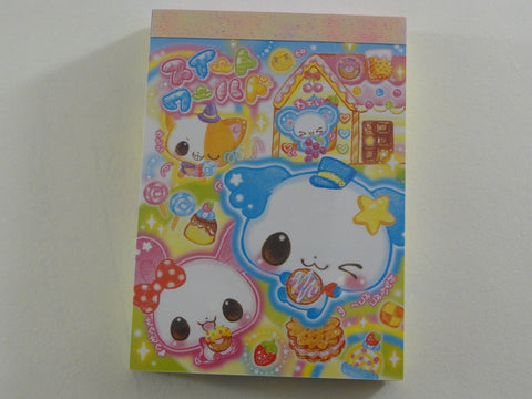Cute Kawaii Kamio Fruity Sweet Donut Bakery Animal Mini Notepad / Memo Pad - Vintage Rare Collectible - Stationery Design Writing