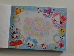 z Cute Kawaii Q-Lia Nyanco Cat in Wonderland Mini Notepad / Memo Pad - Vintage Rare Collectible - Stationery Design Writing