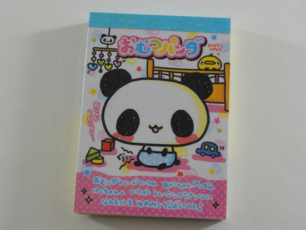 z Cute Kawaii Crux Baby Panda Mini Notepad / Memo Pad - Vintage Rare Collectible - Stationery Design Writing