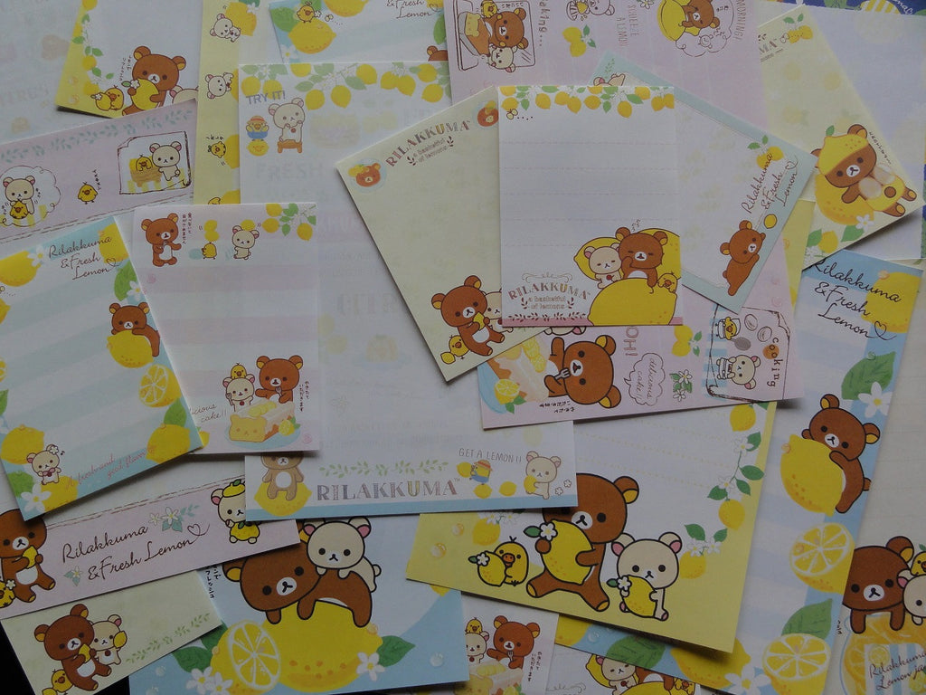San-X Rilakkuma Bear Lemon Memo Note Paper Set