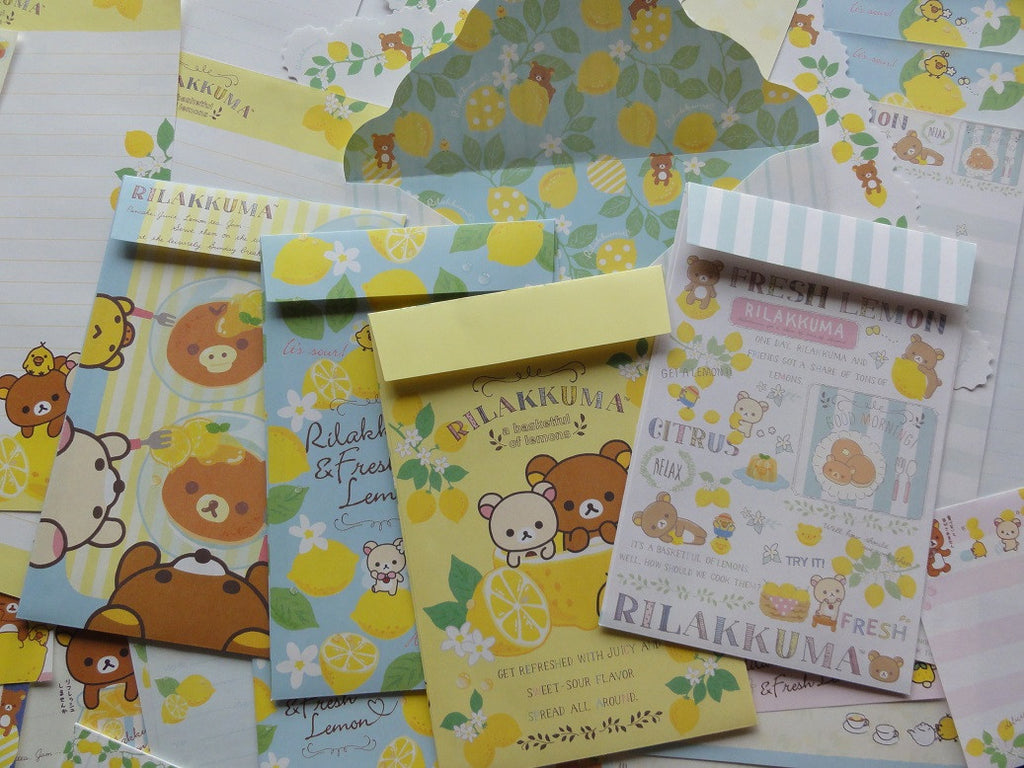 San-X Rilakkuma Bear Lemon Stationery Set