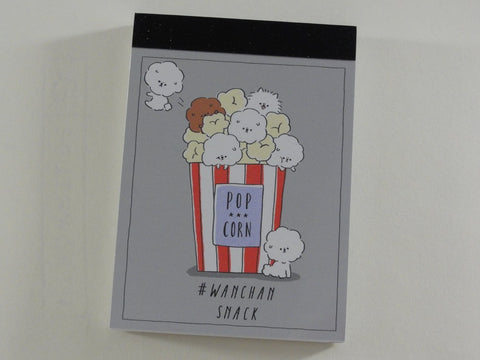 Cute Kawaii Crux Popcorn Wanchan Snack Dog Mini Notepad / Memo Pad - Stationery Design Writing Collection