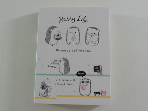 Kawaii Cute Kamio Hedgehog Harry Collection - A - Mini Notepad / Memo Pad - Stationery Designer Paper Collection
