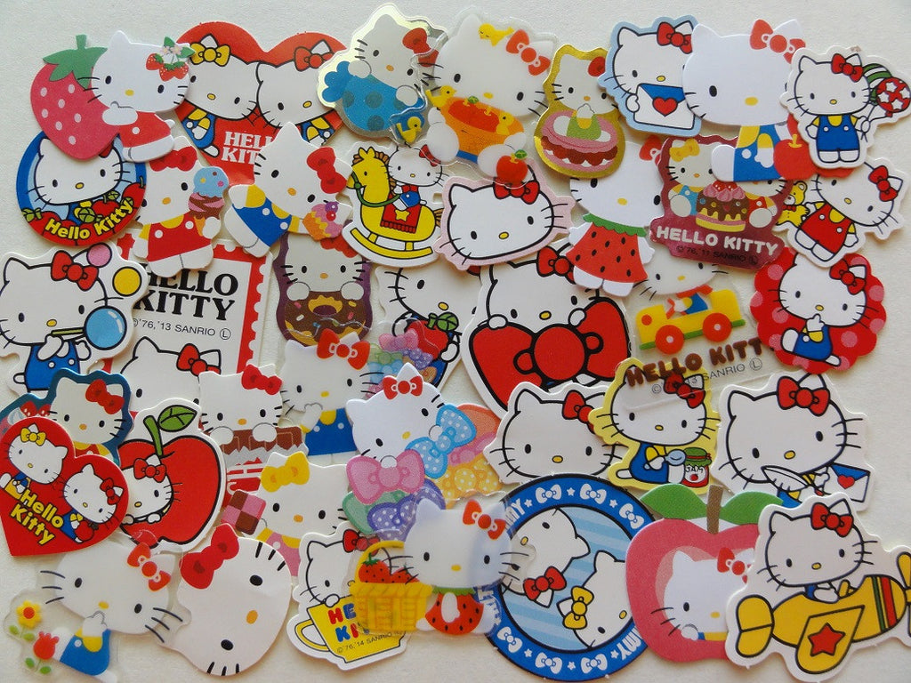 Sanrio Hello Kitty Flake Sack Stickers - 40 pcs