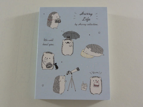 Kawaii Cute Kamio Hedgehog Harry Collection - B - Mini Notepad / Memo Pad - Stationery Designer Paper Collection