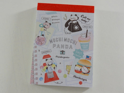 Kawaii Cute Kamio Mochi Panda Mini Notepad / Memo Pad - G - Stationery Design Writing Collection