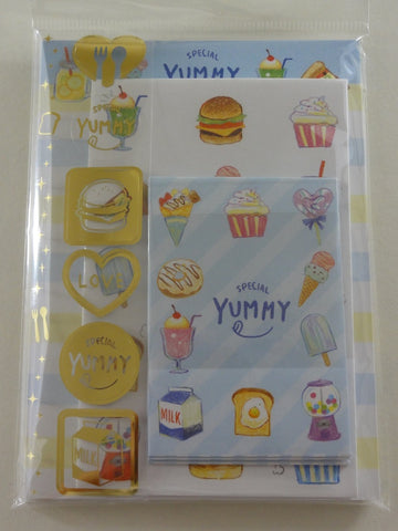 Cute Kawaii Crux Yummy Food theme MINI Letter Set Pack - Stationery Writing Note Paper Envelope