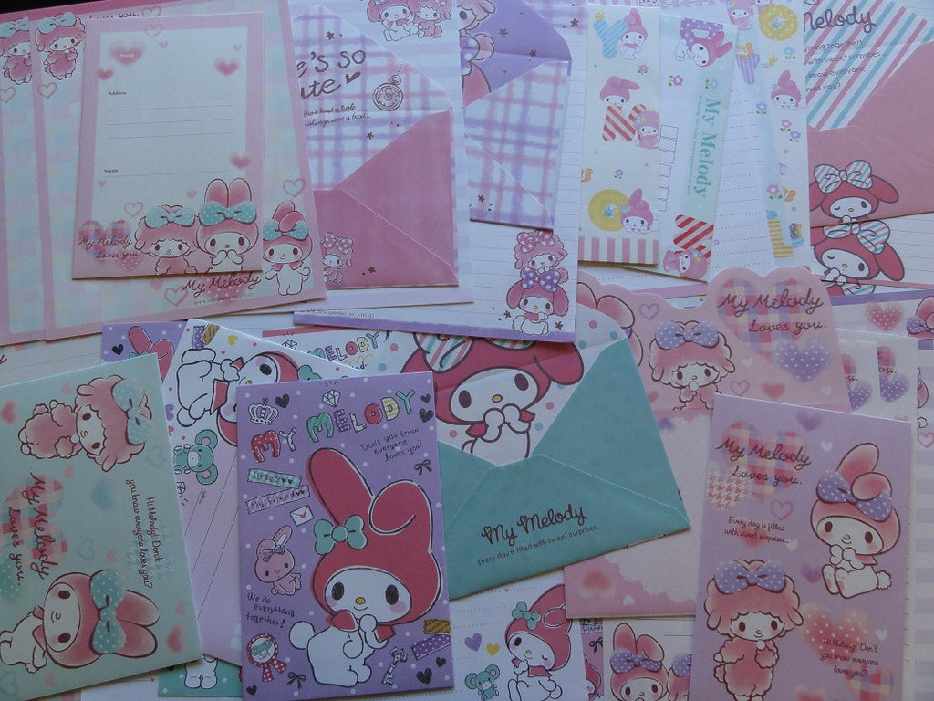 Sanrio My Melody Letter Paper + Envelope Theme Set
