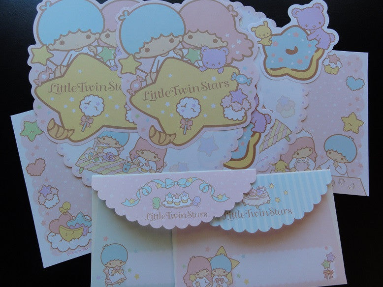 Sanrio Little Twin Stars Letter Sets - A