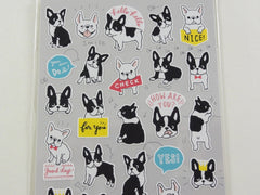 Cute Kawaii Mind Wave Dogs Puppies Bulldog Sticker Sheet - for Journal Planner Craft