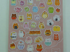 Cute Kawaii Mind Wave Beary Food Fruits Vegetables and Drinks Sticker Sheet - for Journal Planner Craft