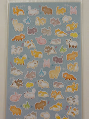 Cute Kawaii Mind Wave Dog Cat Bear Bird Pig Racoon Fox Panda Hamsters Llama Sticker Sheet - for Journal Planner Craft