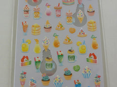 Cute Kawaii Crux Fruity Food and Drinks Sticker Sheet - for Journal Planner Craft