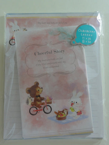 Cute Kawaii Kamio Cheerful Story Letter Set Pack - Penpal Stationery Writing Paper Envelope