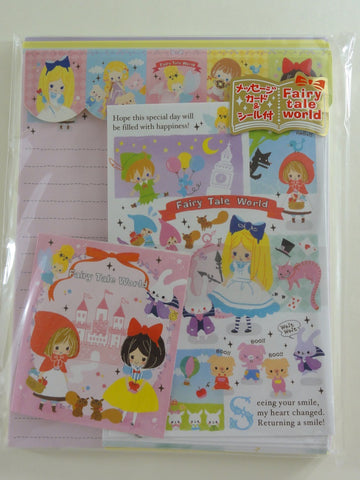 Cute Kawaii Kamio Fairy Tale World Letter Set Pack - Penpal Stationery Writing Paper Envelope