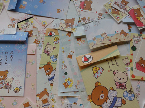 San-X Rilakkuma Bear Summer Beach Stationery Set