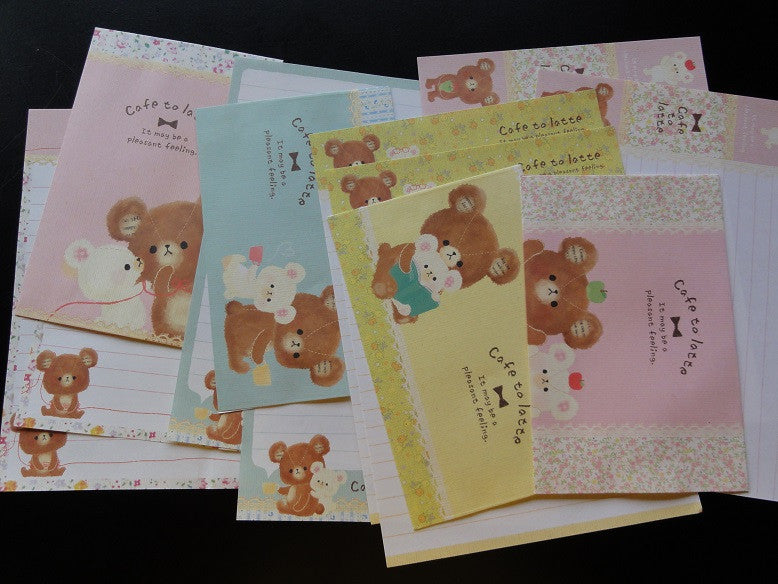 Kamio Cafe to Latte Bear Letter Sets