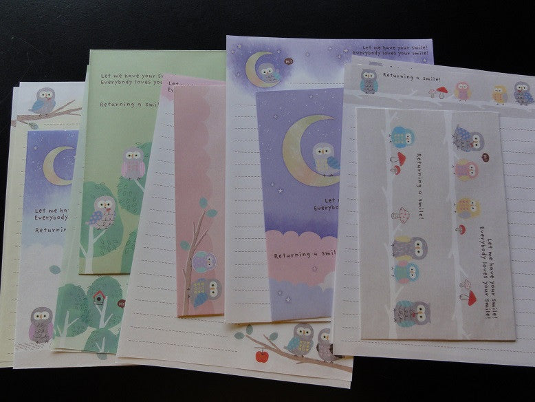 Kamio Owl Returning a Smile Letter Sets