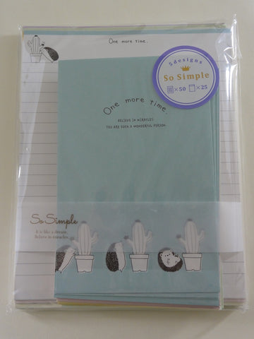 Cute Kawaii Crux Hedgehog Letter Set Pack - Stationery Writing Paper Penpal