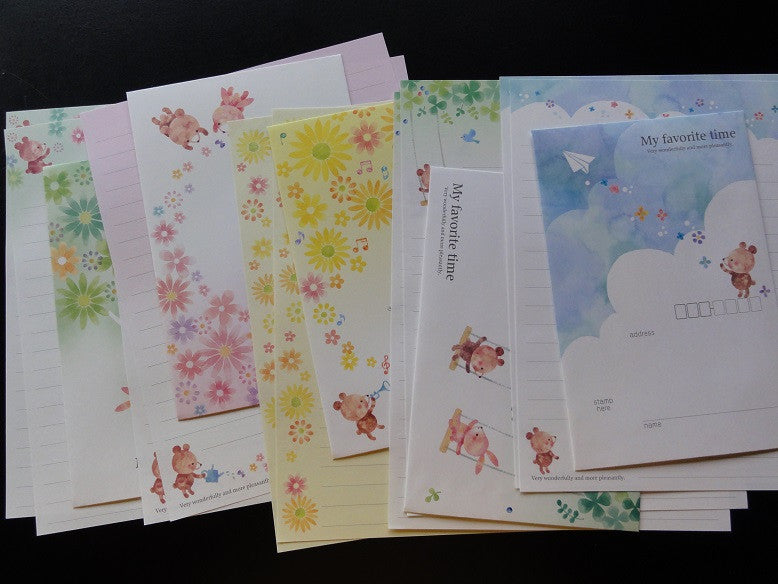 Kamio My Favorite Time Bear Letter Sets
