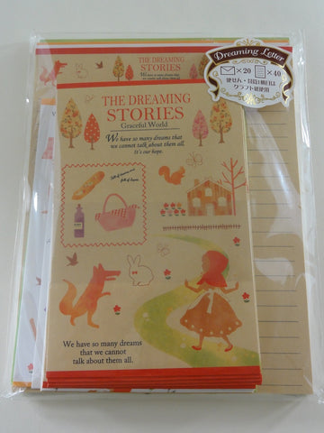 Cute Kawaii Crux Red Riding Hood Dreaming Stories Fairy Tale Letter Set Pack - Penpal Stationery Writing Paper Envelope
