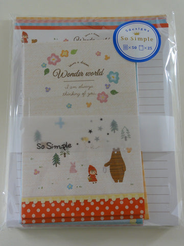 Cute Kawaii Crux Wonder Fairy Tale World Letter Set Pack - Stationery Writing Paper Penpal