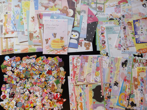 Grab Bag Stationery (Letter Sets + Memo + Stickers):  75 pcs