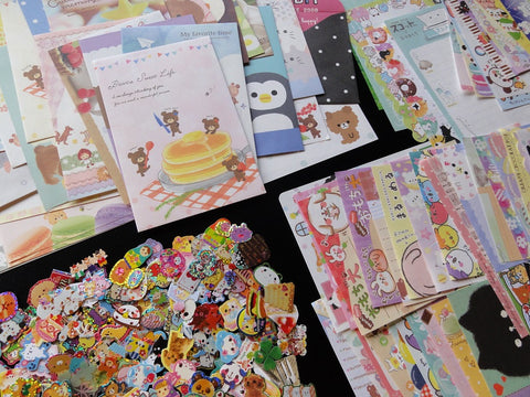 Grab Bag Stationery (Letter Sets + Memo + Stickers):  150 pcs