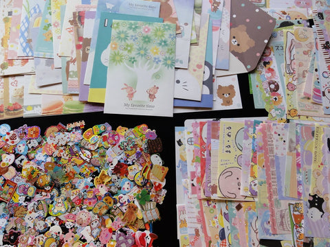 Grab Bag Stationery (Letter Sets + Memo + Stickers):  96 pcs