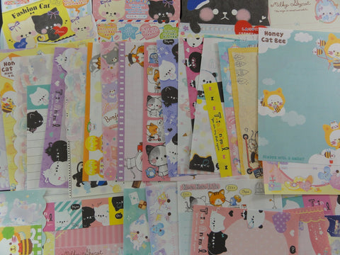 Cute Kawaii Cats Kitten Note Paper Memo Set - Stationery Writing Craft Journal A