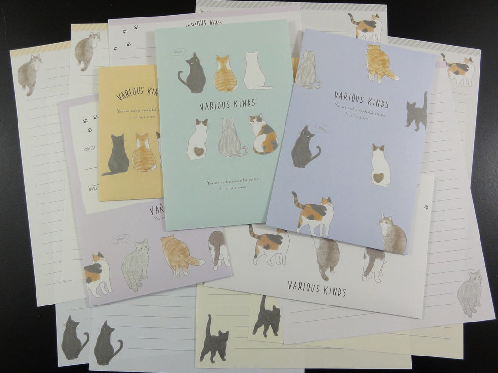 Cute Kawaii Crux Cats Collection Letter Sets - Stationery Writing Paper Envelope Penpal