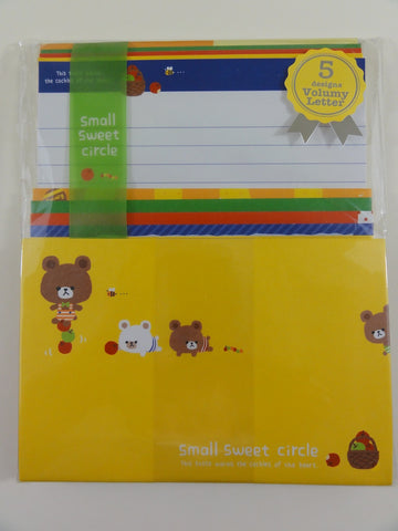 Cute Kawaii Q-Lia Bear Letter Set Pack - Stationery Writing Paper Penpal