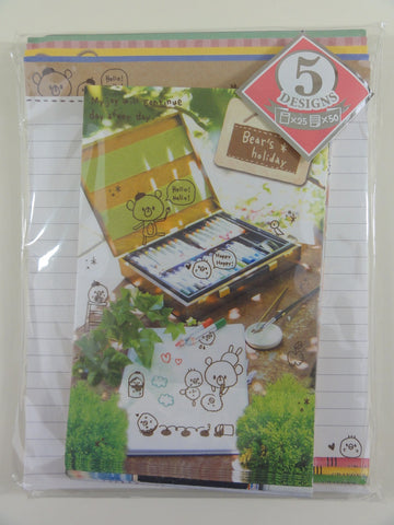 Cute Kawaii Kamio Bear Strawberry Garden Letter Set Pack - Stationery Writing Paper Penpal