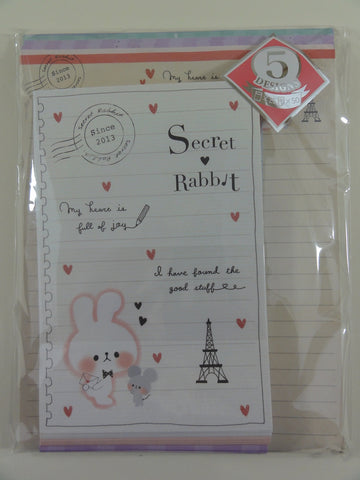 Cute Kawaii Kamio Secret Rabbit Letter Set Pack - Stationery Writing Paper Penpal