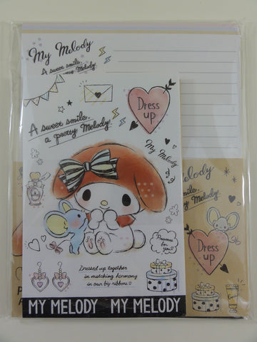 Cute Kawaii Sanrio My Melody Letter Set Pack - Stationery Penpal Writing Paper Envelope