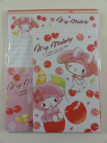 Cute Kawaii Sanrio My Melody Cherry Letter Set Pack - Stationery Penpal Writing Paper Envelope