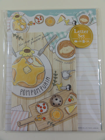 Cute Kawaii Sanrio Pom Pom Purin Dog Letter Set Pack - Stationery Penpal Writing Paper Envelope