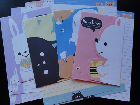 Crux Animal Kuma Usagi Neko Love Letter Sets