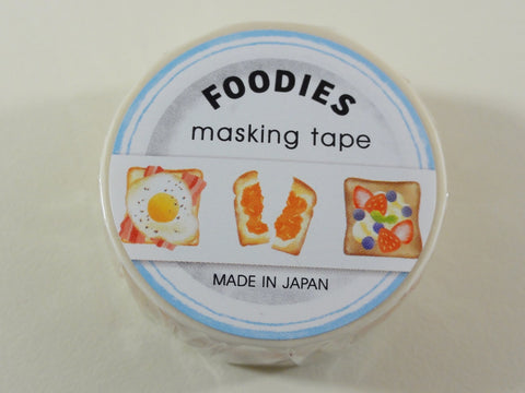 Cute Kawaii Mind Wave Foodies Washi / Masking Deco Tape - A - Sandwich Breakfast - for Scrapbooking Journal Planner Craft