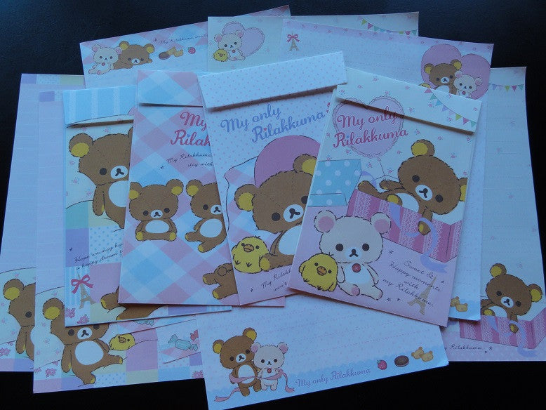 San-X My Only Rilakkuma Bear Letter Sets