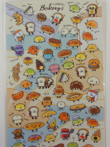 Cute Kawaii Mind Wave Funwari Bakery Sticker Sheet - for Journal Planner Craft