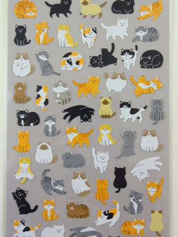 Cute Kawaii Mind Wave Cat Kitten Sticker Sheet - for Journal Planner Craft