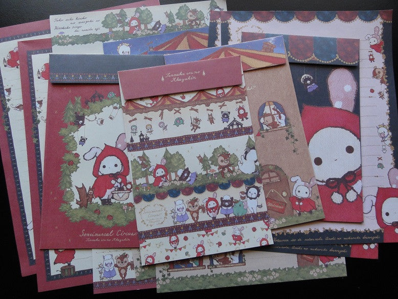 San-X Sentimental Circus Red Riding Hood Letter Sets - A